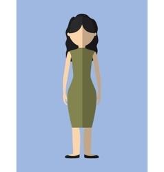 Woman faceless avatar icon image vector