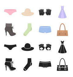 women boots socks shorts ladies bag clothing vector image