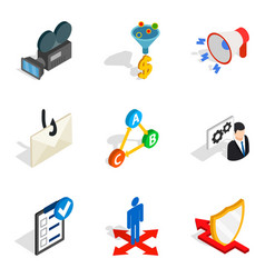 World wide web icons set isometric style vector