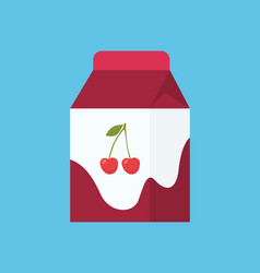 yoghurt in carton package isolated cartoon icon vector image