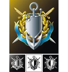 anchor dirks badge and ribbon vector image