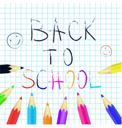 Back to school poster education background set vector
