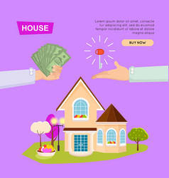 buying house online property selling web banner vector image vector image