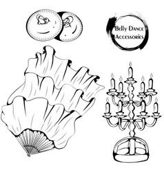 dance line belly dance accessories vector image vector image