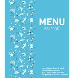Sea food restaurant menu Seafood template design vector image vector image