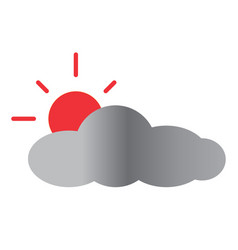 sun and cloud icon on white background sun and vector image vector image