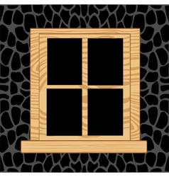 Window in wall from stone vector image vector image