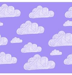cloud purple vector image