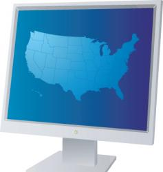 monitor us vector image vector image