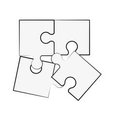 puzzle pieces symbol vector image