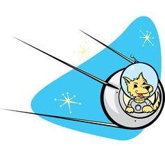 Sputnik Satellite and dog vector image vector image