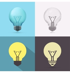 Isolated Bulb vector image