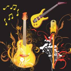 music graphics vector image