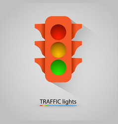 orange traffic light modern background vector image vector image