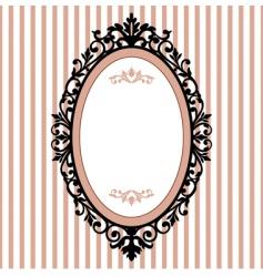 oval vintage frame vector image vector image