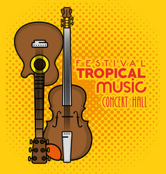 Poster festival tropical music vector
