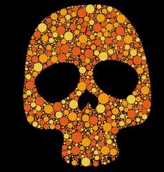 skull pattern circles vector image