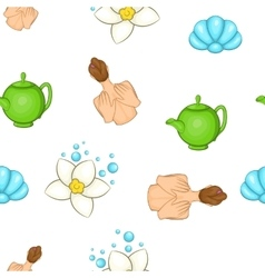 SPA elements pattern cartoon style vector image