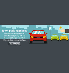 town parking places banner horizontal concept vector image