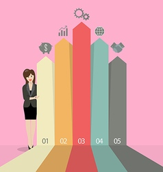 Business woman presenting the marketing vector image vector image