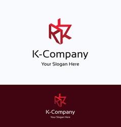 K company logo vector image