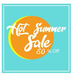 summer sale background design vector image