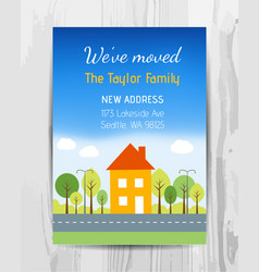 welcome party invitation card new home party vector image