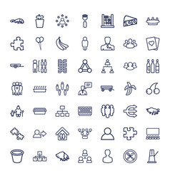 49 group icons vector
