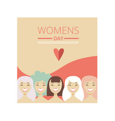 8 march womens day floral greeting card party vector image