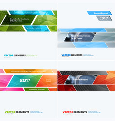 abstract design elements for graphic layout vector image