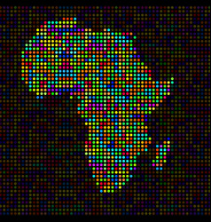 abstract map of africa colorful dots vector image