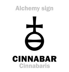 Alchemy cinnabar cinnabaris vermilion vermeil vector