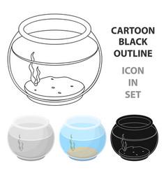aquarium with waterpet shop single icon in vector image