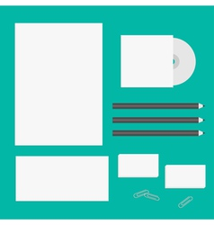 Blank letter pencil envelope cd business card vector