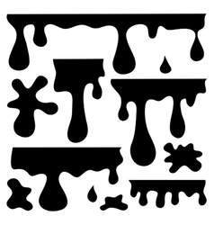 blots splashes and smudges vector image