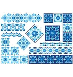 blue decorative design element vector image