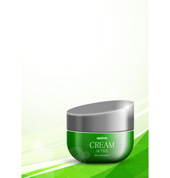 Body cream cosmetic design template vector