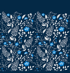 border of delicate little blue and white vector image