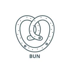 bun line icon bun outline sign concept vector image