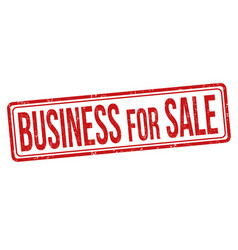 business for sale grunge rubber stamp vector image