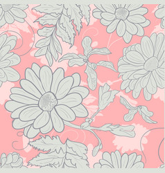camomile hand-drawn seamless pattern vector image