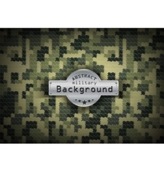 Camouflage military pixel art pattern background vector image