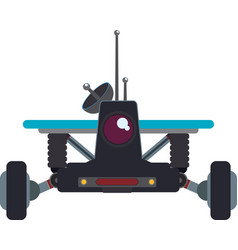 Car transport robot technology android metal icon vector