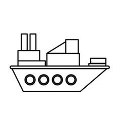 cargo ship icon image vector image