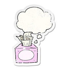 Cartoon tissues and thought bubble as a vector