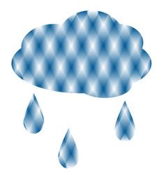 cloud with rain vector image