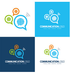 Communication globes icon and logo vector