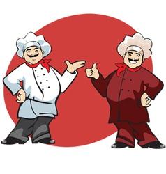 cook cartoon vector image