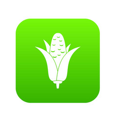corncob icon digital green vector image