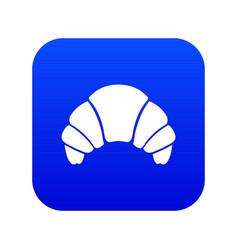 Croissant icon digital blue vector